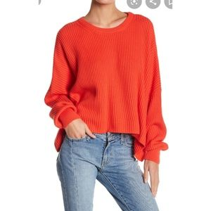 Free People Festival Pier Slouchy Pullover Sweater